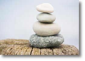 Stacked rocks in equilibrium