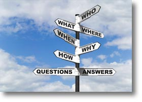 Sign post of questions and answers